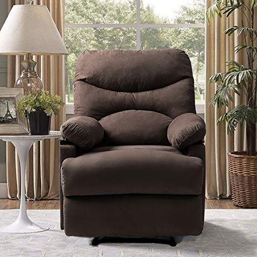 Vosson Chair Massage Electric Recliner Heated Ergonomic Massage Recliner Chair Microfiber Heated Recliner with 8 Massage Points(Brown)