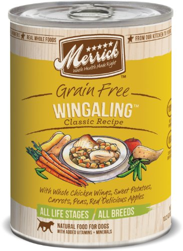 Merrick Classic Grain Free Wangling Wet Dog Food, 13.2 oz, Case of 12 Cans