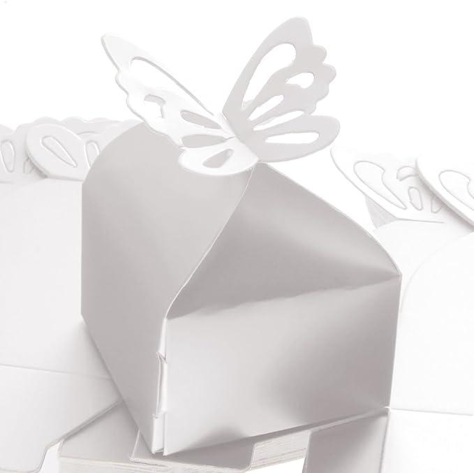 50pcs Bo/îte /à Bonbons Papillon Soir/ées Mariage apt/ême D/écoration de Table Bo/îte Cadeaux Mariage