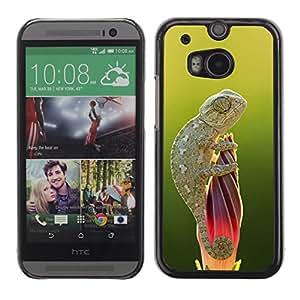 Be Good Phone Accessory // Dura Cáscara cubierta Protectora Caso Carcasa Funda de Protección para HTC One M8 // cute lizard chameleon green nature