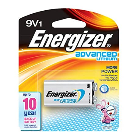 Energizer LA522SBP 9V Lithium Battery for Smoke Detectors Energizer Batteries