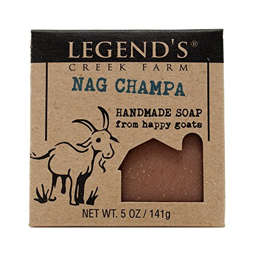 - Nag Champa Goat Milk Soap - 5 Oz Handmade Bar - Great For Sensitive Skin - Certified Cruelty Free