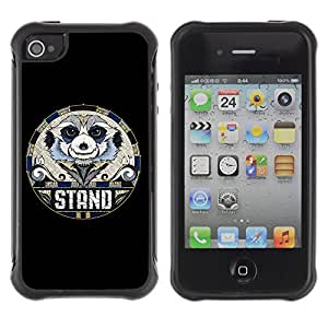 Hybrid Anti-Shock Defend Case for Apple iPhone 4 4S / Cool Sloth