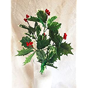 1pcs Holly Berry Bush Christmas Filler Greenery Silk Wedding Flowers Centerpieces 22