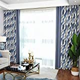 Living Room Study Room Curtain Fabric Finished Insulation Sunscreen Simple All Blackout Floor to Ceiling Window (Size : 3 * 2.7m)