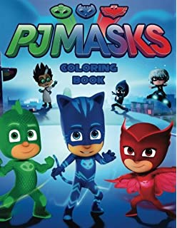 PJ MASKS: Coloring Book for Kids and Adults - 40 illustrations
