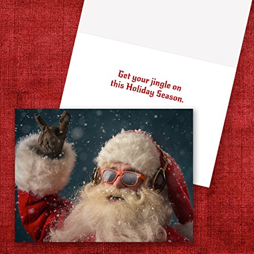 Rock 'n Roll Santa Holiday Card Pack - Set of 25 cards - 1 design, versed inside with envelopes Photo #5