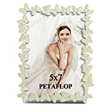 PETAFLOP 5x7 White Metal Picture Frame With Butterfly Decoration Photo Frame Love Decoration