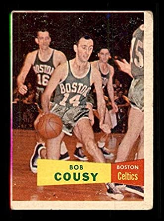 6465b1f57 Amazon.com  1957 Topps  17 Bob Cousy RC VG X1279125  Collectibles ...