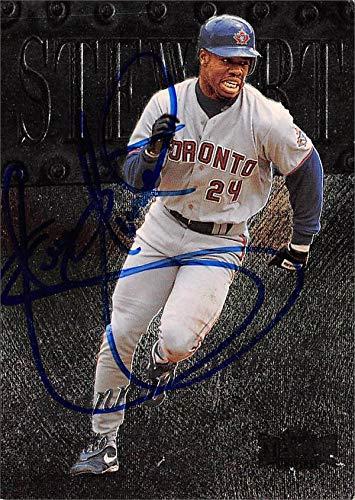 Shannon Stewart autographed baseball card (Toronto Blue Jays, SC) 1999 Skybox Metal Universe #113 - MLB Autographed Baseball Cards ()