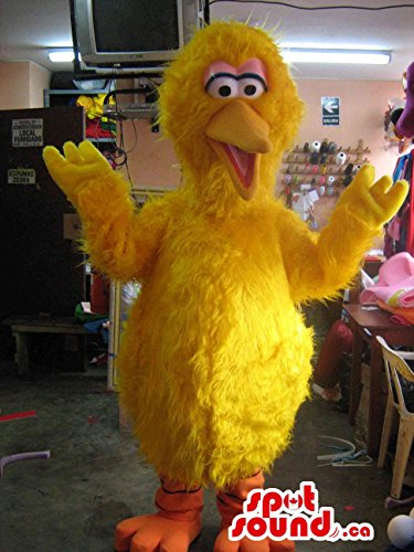 Original Large Bird Well-Known Alike Character Plush Mascot SpotSound US In Yellow - Big Bird Mascot Costumes