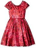 Biscotti Little Girls' Rose Rhapsody Cap Sleeve Dress, Red, 5