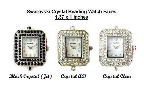 PlanetZia Swarovski Crystal Beading Watch Faces For Interchangeable Beaded Bands TVT-SW2700 (Crystal AB)