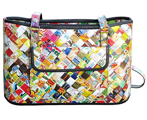Wrapper Purse - Handbag made of candy wrappers - FREE SHIPPING upcycled style eco friendly vegan tote satchel repurposed handbags bag purse gifts gift present for ollin armcandy style gum sweets wrapper wraps