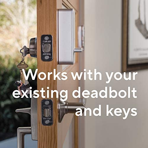 Wyze Lock WiFi and Bluetooth Enabled Smart Door Lock, Wireless & Keyless Door Entry, Hands-Free Voice Control, Home Security Compatible with Amazon Alexa, Fits on Most Deadbolts, Includes Wyze Gateway 51umbcMFZ4L