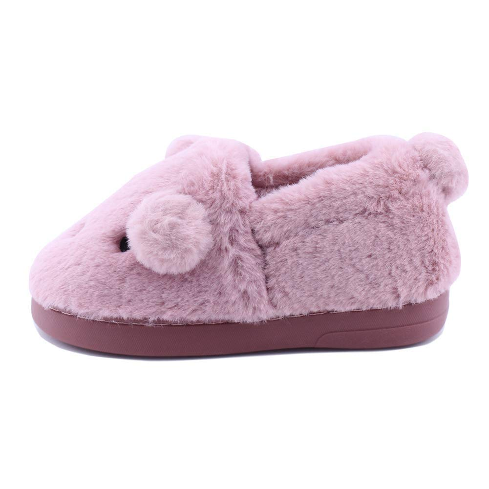 Kids Slipper Slip On House Doggy Winter Indoor Shoes