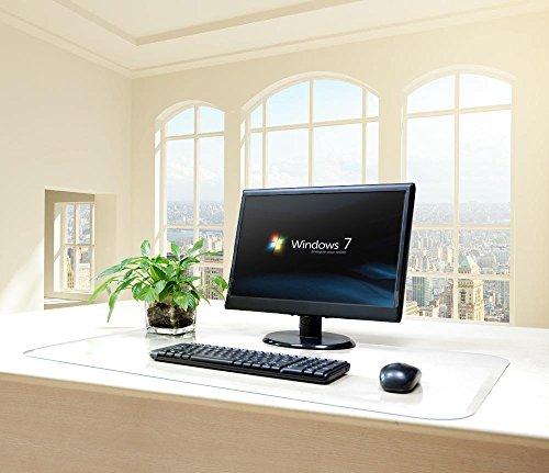 "Matladin 1pcs PVC 20"" x 36"" Desk Mat Pad, Smooth Back Rectangular Desktop Desk Blotter, Clear by Matladin"