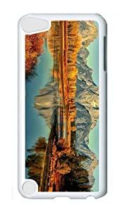 Ipod 5 Case,MOKSHOP Awesome autumn mountain river Hard Case Protective Shell Cell Phone Cover For Ipod 5 - PC White