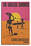 Carillon Beach, Florida - The Endless Summer - Original Movie Poster (10x15 Wood Wall Sign, Wall Decor Ready to Hang)