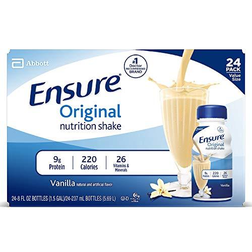 Ensure Original Vanilla Therapeutic Nutrition, 8 Ounce Recloseable Carton, Abbott 64931 - Case of 24