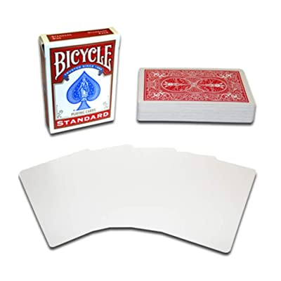 Merz67 LLC Bicycle Magic Gaff Playing Card Deck (Blank Face Red Back): Sports & Outdoors
