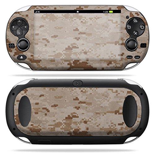 MightySkins Protective Vinyl Skin Decal Cover for PS Vita PSVITA Playstation Vita Portable wrap sticker skins Desert Camo ()