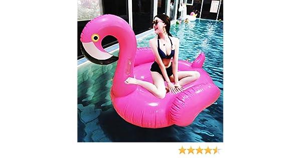 Asamoom Flotador Gigante Flamenco Hinchable para Piscina , Flotador Unicornio Piscina Para Adultos 150 x 150x 120 cm: Amazon.es: Juguetes y juegos