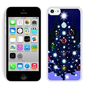 MMZ DIY PHONE CASEHight Quality ipod touch 5 TPU Case Christmas Tree White ipod touch 5 Case 26
