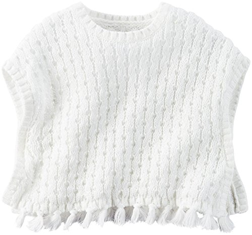 Carter's Baby Girls' Layering 127g174, Ivory, 9 Months (Ribbed Poncho)