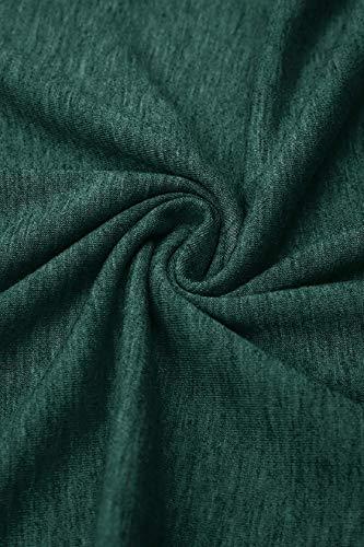 Tuopuda Magliette Donna Maglia a Collo Rotondo T-Shirt Side Twist Knot Casual Camicetta Basic Shirt Eleganti Lady Tops Pullover Traspirante Allentato Shirt Camicia Manica Blusa
