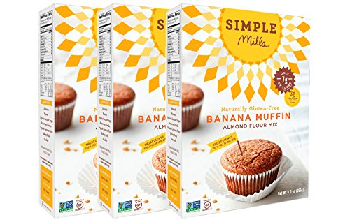 Simple Mills Banana Muffin Mix, 9 Ounce Box, 3 Count by Simple Mills