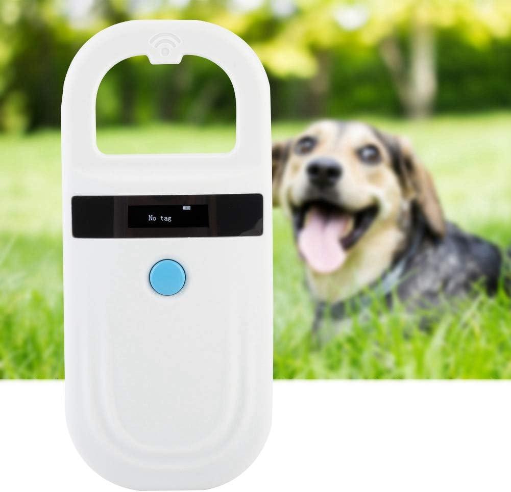 Jingyi Lector de Mascotas de fácil operación, escáner de identificación de Chip de Animal Recargable Escáner de Microchip Escáner de Etiqueta de Mascota, Lector de Microchip con Pantalla OLED