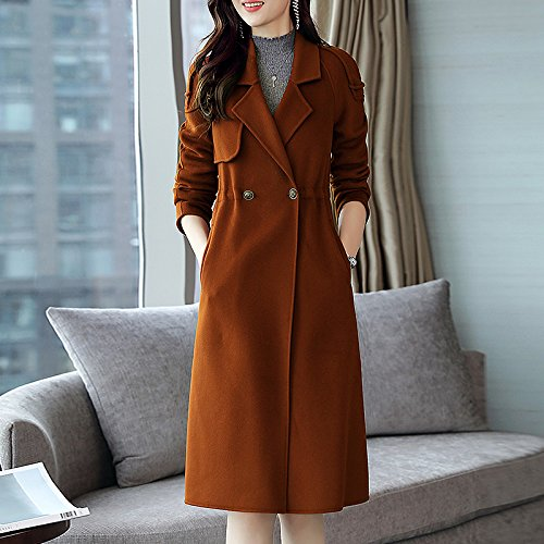SCOATWWH Long Jacket Plain And Coats Caramel Duplex Women'S Coat Manual amp; Jackets Wool Winter Women'S A That Coats Autumn qrO15q4