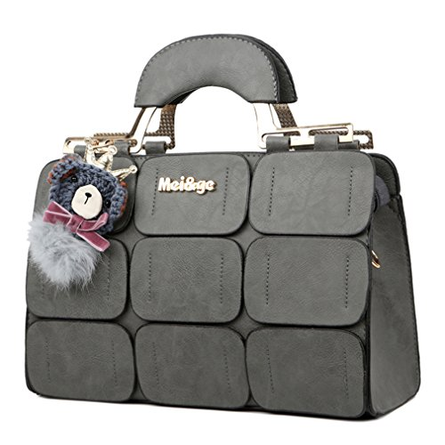Leather Suture Bag Spring Bag Inclined Handbags Shoulder New Grey Women New summer Women Bag Boston PUPWg