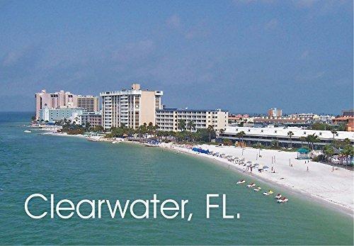 Clearwater, Florida, Gulf of Mexico, Beach, FL, Souvenir Magnet 2 x 3 Fridge Magnet ()