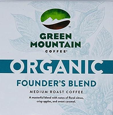 Green Mountain Organic Founders Blend Coffee K-Cups (30 Total) - Medium Roast Coffee