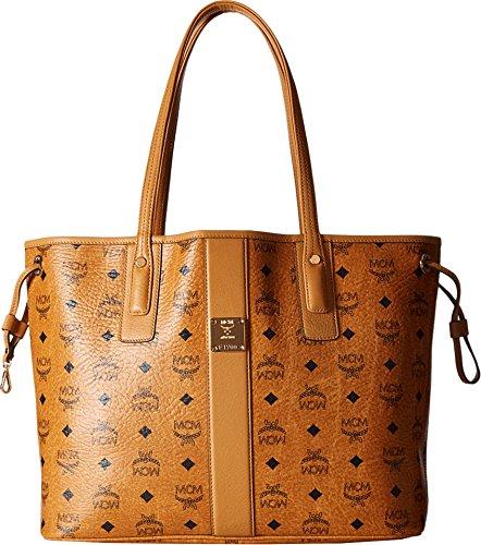 MCM Women's Reversible Shopper Tote, Cognac, One Size by MCM