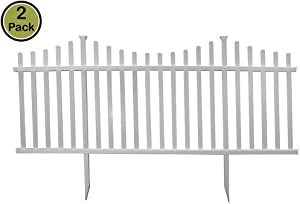 "Zippity Outdoor Products Manchester Semi-Permanent Vinyl Fence Kit (2 Pack), 42"" x 92"""