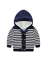 YOUZHILAN Baby Toddler Boy Girl Winter Long Sleeve Sweater Warm Fleece Jacket
