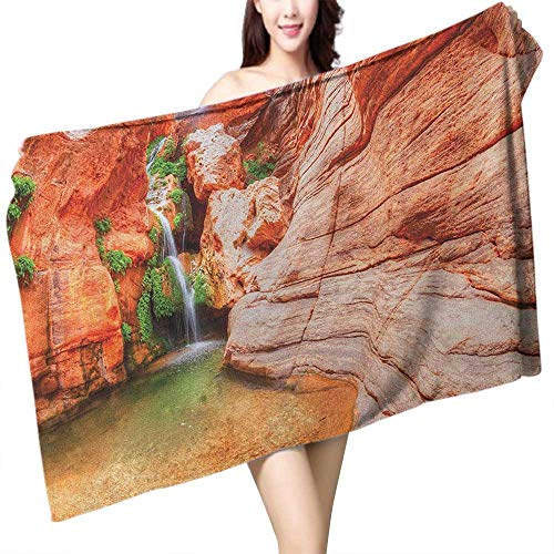 (Soft Bath Towel Americana Elves Chasm Colorado River Plateau Creek Grand Canyon Image Print W31 xL63 Suitable for bathrooms, Beaches, Parties)