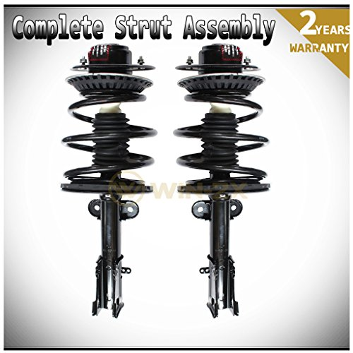 WIN-2X New 2pcs Front Right+Left Quick Complete Suspension Strut Shock Coil Springs Assembly Kit Fit 01-07 Chrysler Town & Country & 01-03 Voyager & 01-07 Dodge Caravan/Grand Caravan