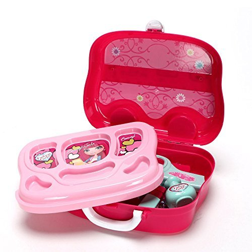 Role Play Jewelry Kit for Girls Toy Set Princess Suitcase Gift for Kids Children 3 Years Old by YIMORE (Image #7)