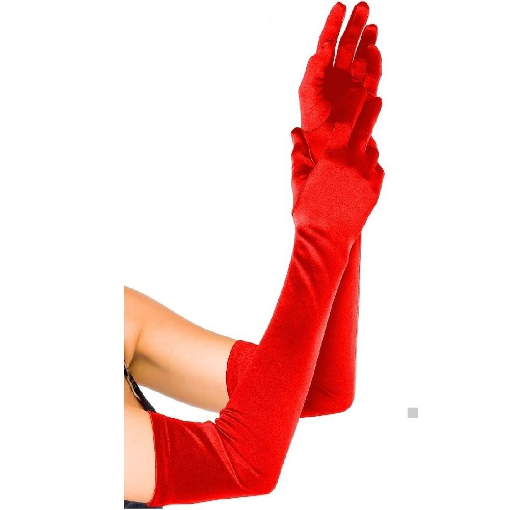 Opera Gloves Satin Extra Long Length Adult Womens Above the Elbow Accessory