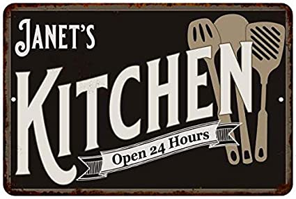 Amazon Com Janet S Kitchen Chic Sign Vintage Wall Decor