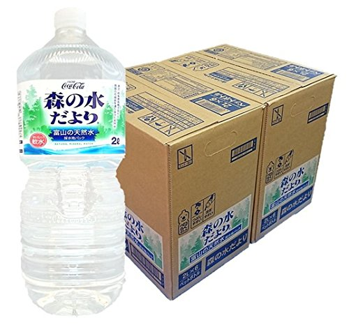 2cs Toyama of natural water than it is Coca-Cola forest of water ''Peko Raku bottle'' 2LX12 this by News from the water in the forest
