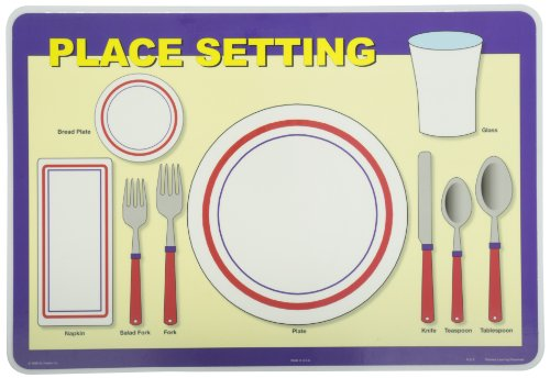 Place Setting Napkin - Painless Learning Place Setting Placemat