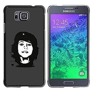 "For Samsung Galaxy Alpha G850 , S-type Che Rebel Chica"" - Arte & diseño plástico duro Fundas Cover Cubre Hard Case Cover"