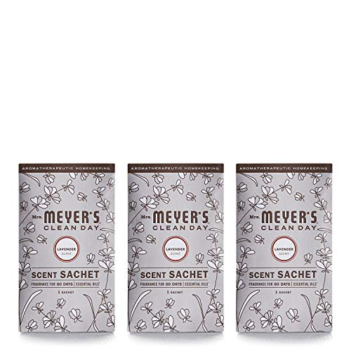 Mrs. Meyer's Clean Day Scent Sachets, Lavender, 3 Count