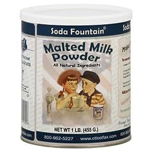 Amazon.com : Soda Fountain Malted Milk Powder 1 Lb ...