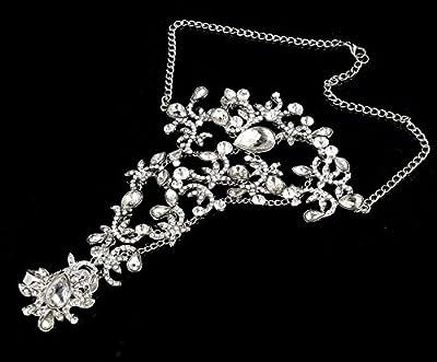 Sunshinesmile Rhinestone Bracelet Arm Chain Wedding Bridal Jewelry